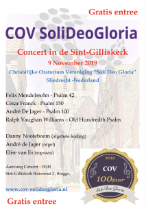Jubileum buitenland concert COV SoliDeoGloria